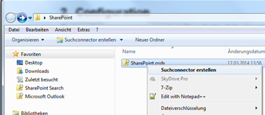 SharePoint 2013: Search Connectors for Windows 7 -   :: I like