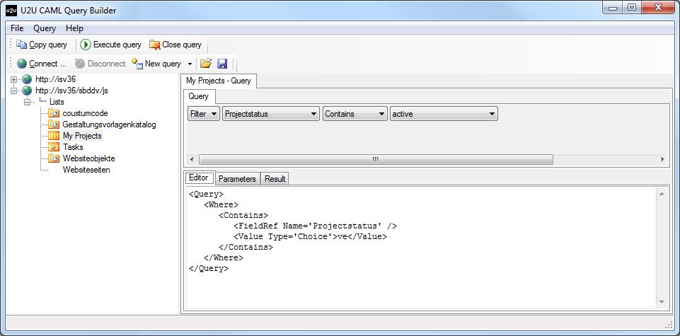 SharePoint 2010: U2U CAML Query Builder -   :: I like SharePoint ::