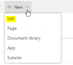 Create list frome excel