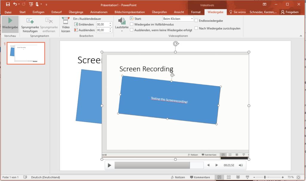 Powerpoint Screenrecording