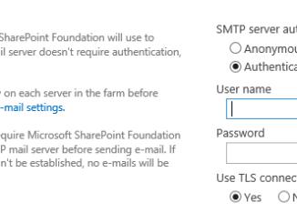 SharePoint 2019 SMTP