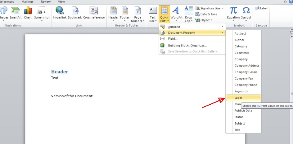 SharePoint display SP version number in a word document - ..:: I ...