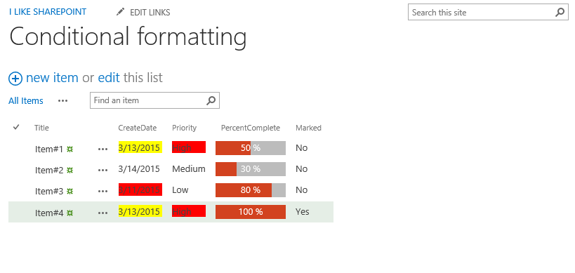 conditional formatting of listviews in sharepoint
