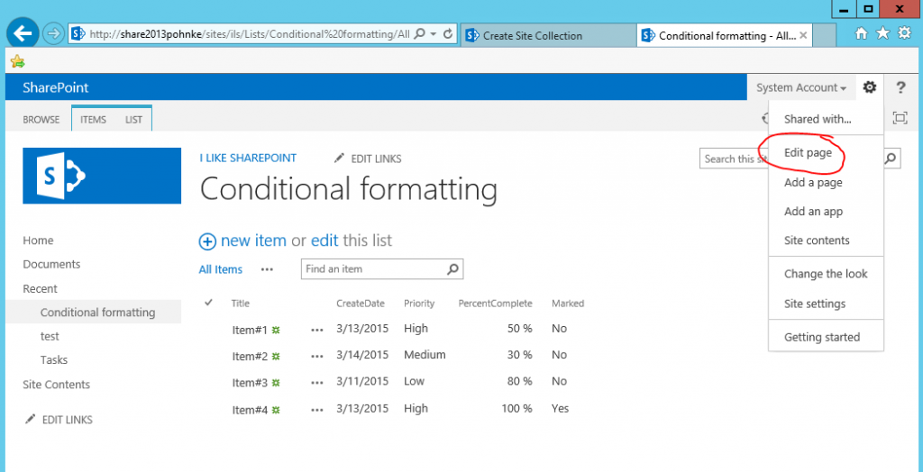 Conditional formatting of listviews in SharePoint -   :: I like