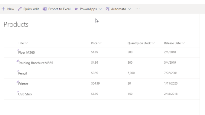 Import Lists from Excel in SharePoint Online