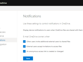 OneDrive Notification Settings