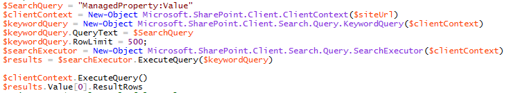 Powershell Search Query